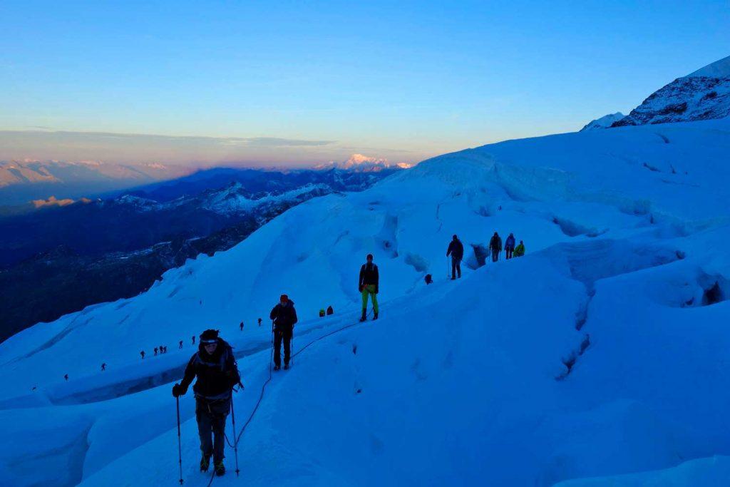 4000er-im-Wallis-Monte-Rosa---Am-Laygletscher