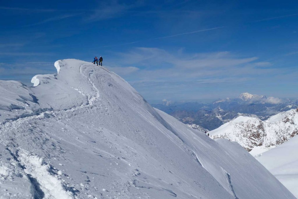 4000er-im-Wallis-Monte-Rosa---Gipfelgrat-Parrotspitze