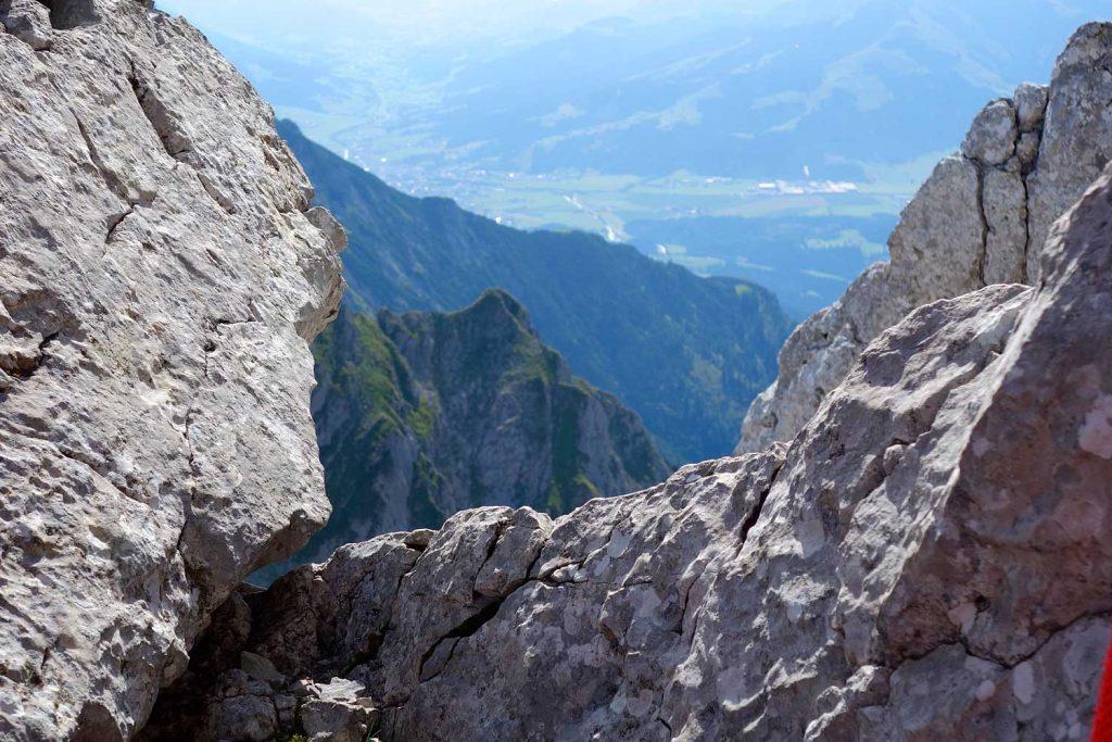 Kopftörlgrat-im-Wilden-Kaiser---Blick-zu-den-Kitzbüheler-Alpen