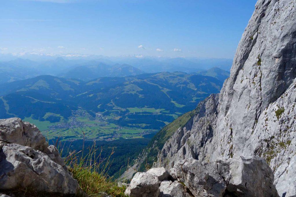 Kopftörlgrat-im-Wilden-Kaiser---Blick-zum-Alpenhauptkamm