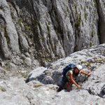 Kopftörlgrat-im-Wilden-Kaiser---Kletterer-am-dritten-Turm