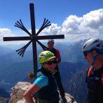 Große-Zinne-Normalweg-mit-Bergführer---Am-Gipfelkreuz
