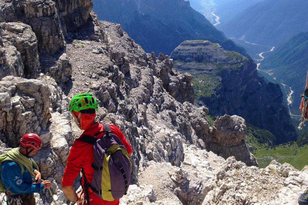 Große-Zinne-Normalweg-mit-Bergführer---Am-Ringband
