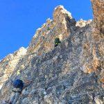 Große-Zinne-Normalweg-mit-Bergführer---An-der-Traverse