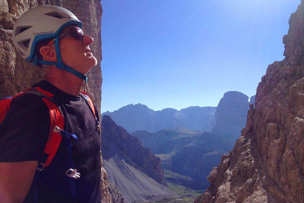 Große-Zinne-Normalweg-mit-Bergführer---Ausblick-nach-Süden
