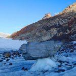 Stubaier-Alpen---Wilder-Freiger,-Wilder-Pfaff-und-Zuckerhütl---Gletschertisch-unter-der-Müllerhütte