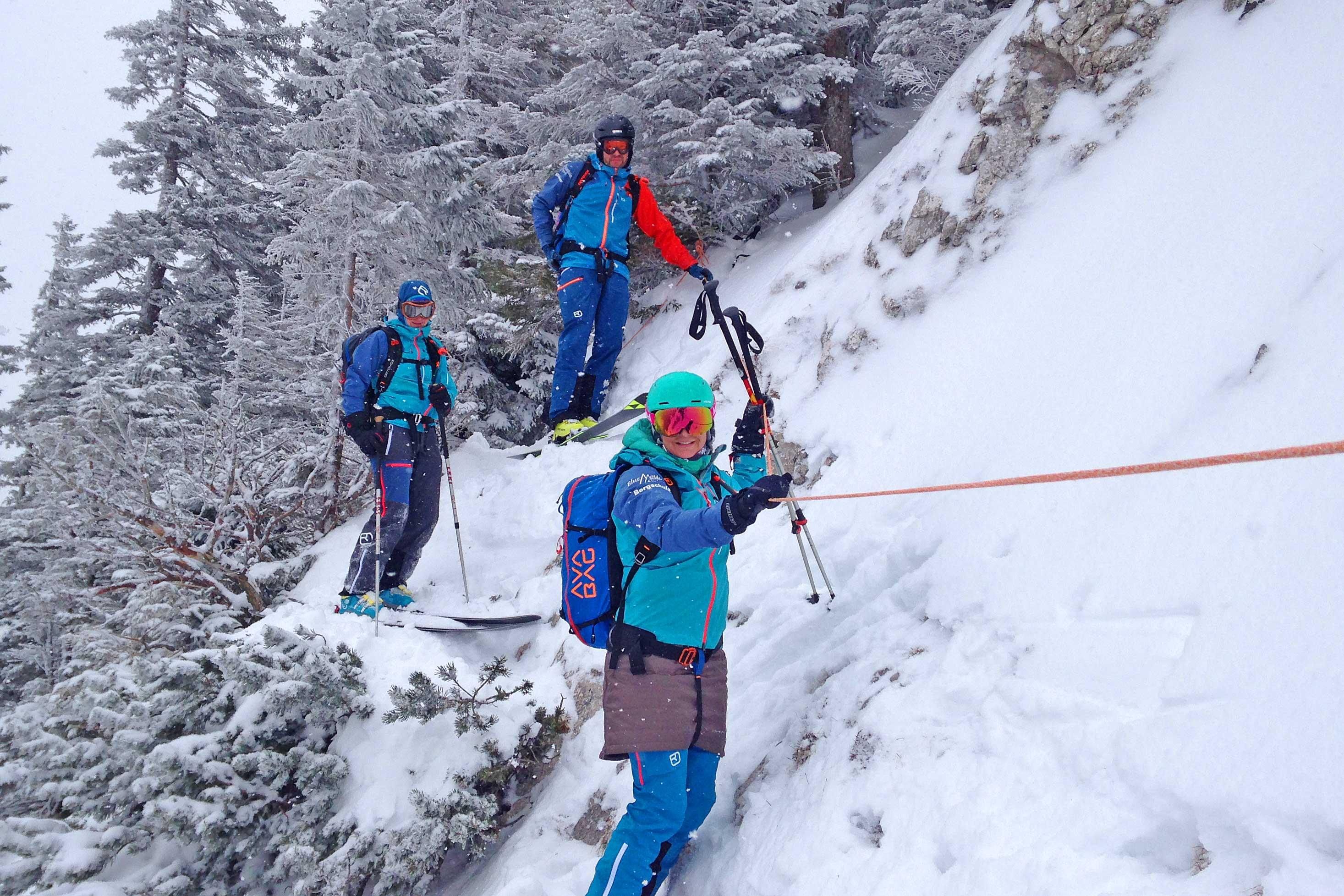 Skitour-Wendelsteingebiet---Am-Fixseil
