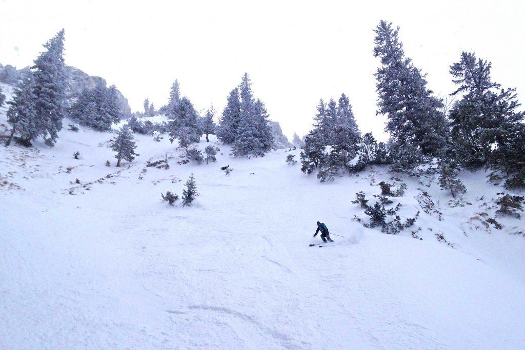 Skitour-Wendelsteingebiet---In-der-Abfahrt