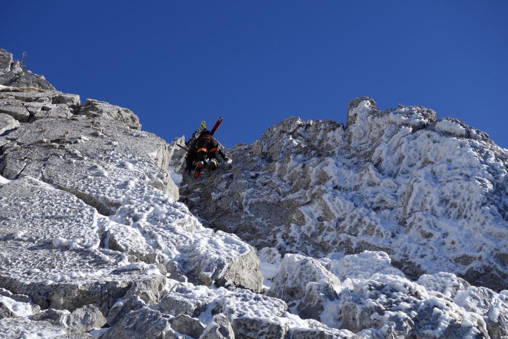 Vorbereitung zur Bergführerausbildung - Abklettern