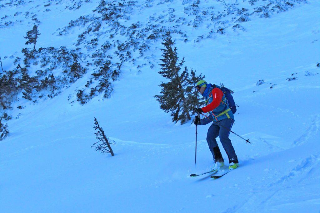 Skitour-Bayerische-Alpen---Abfahrt