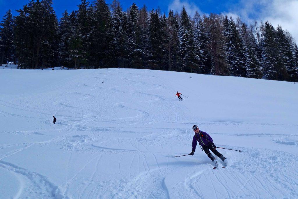 Skitour-in-den-Kitzbüheler-Alpen---Abfahrt